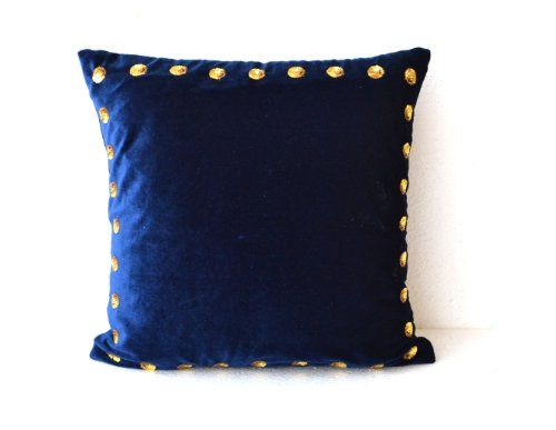 Navy Blue pillow covers- Navy Blue pillow in velvet with ... http://www.amazon.com/dp/B00DW6H7Q4/ref=cm_sw_r_pi_dp_b3ypxb0GFE7F5