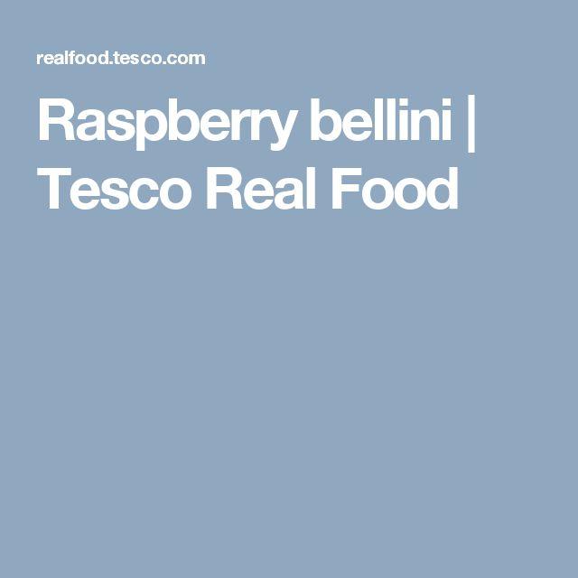Raspberry bellini | Tesco Real Food