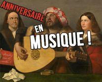 Un anniversaire en musique - carte virtuelle humoristique personnalisable