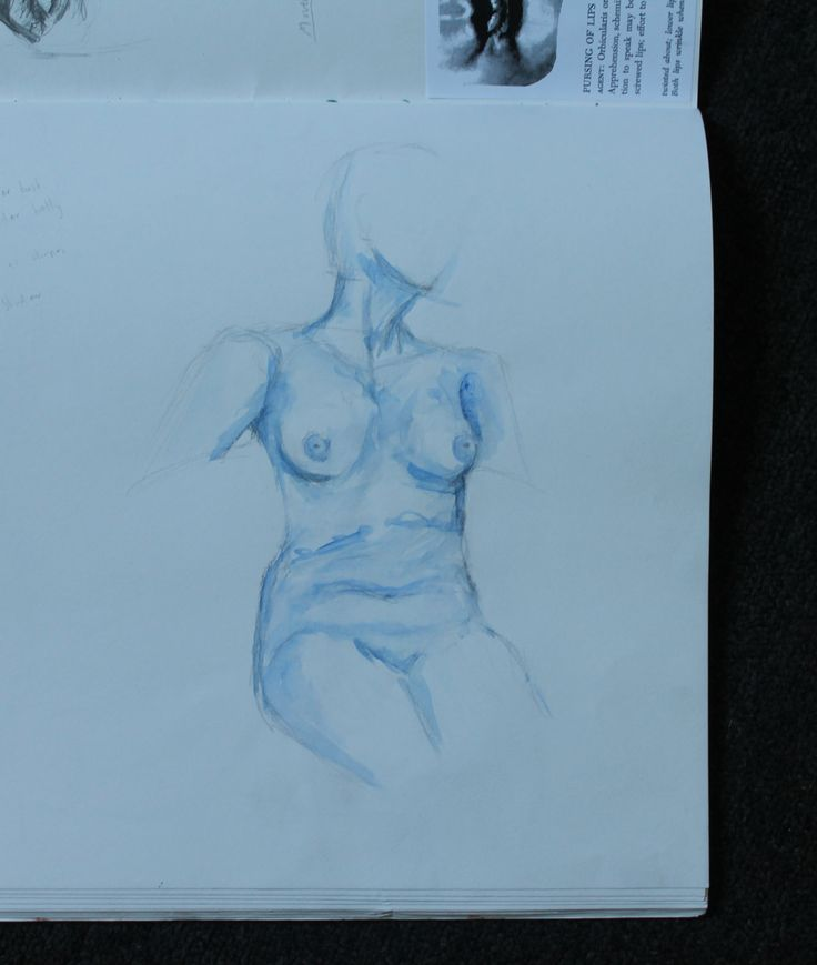Life drawing in watercolour