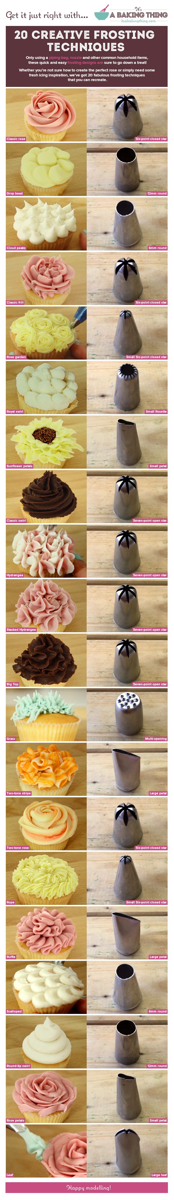Which Frosting Nozzle Infographic