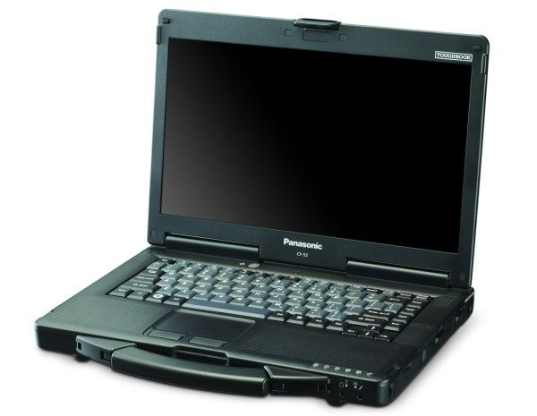 """Panasonic Toughbook CF-53 is a semi-rugged laptop with a 14"""" screen. Both the keyboard and the touchpad are sealed to protect against moisture, and the hinges are both dust and water resistant. It is built to meet MIL-STD-810G certification standards for shock and vibration, extreme temperatures and resistance to dust and moisture. It also has sealed ports and integrated handle for portability."""