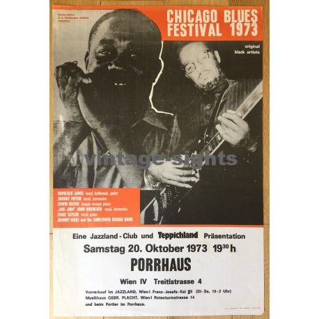 chicago blues festival poster from 1973
