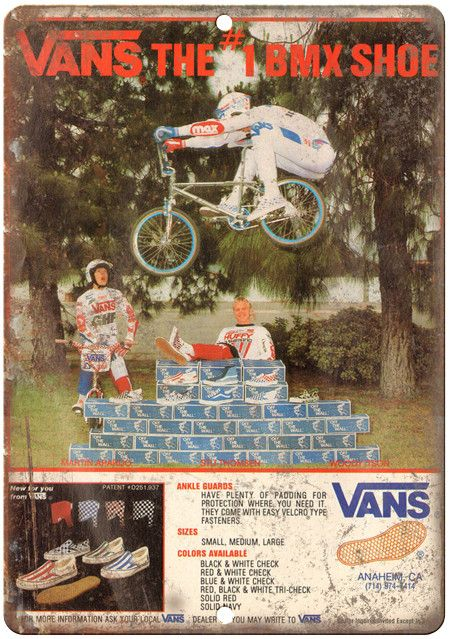 "VANS BMX Shoes 10"" x 7"" Reproduction Metal Sign"