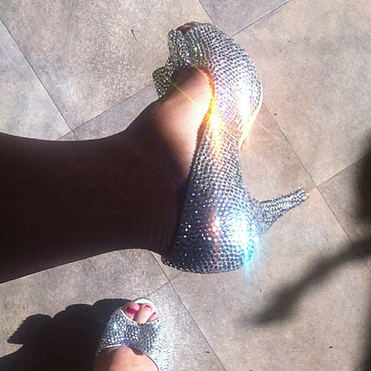 My wedding shoes! They were do heavy but so pretty!