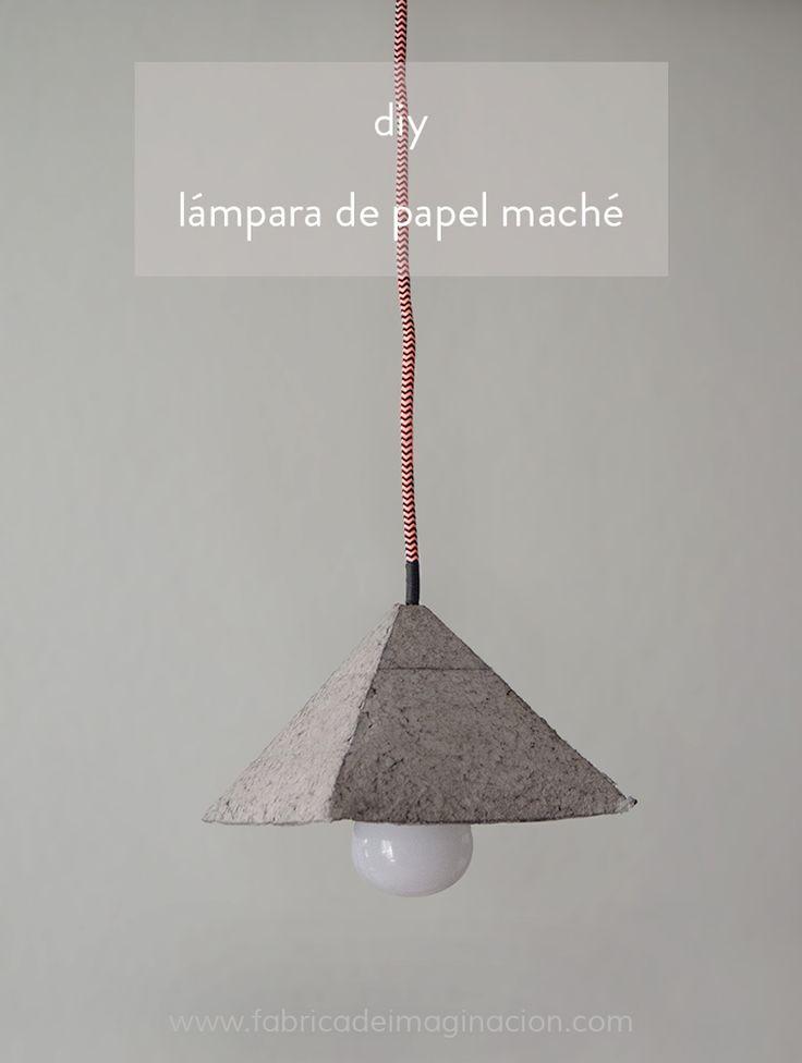 DIY Fábrica de imaginación   DIY Lámpara papel maché   http://www.fabricadeimaginacion.com