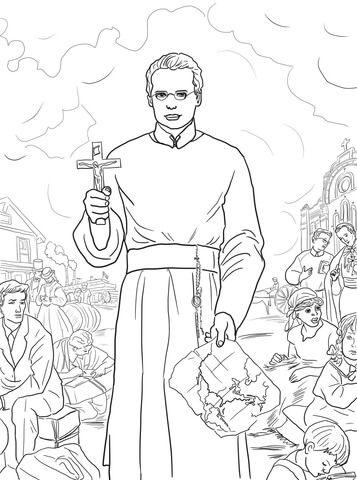 St Francis Xavier Coloring Page Desenhos Para Colorir Desenhos