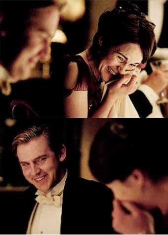 Downton Abbey - Lady Mary and Matthew Crawley: the laugh