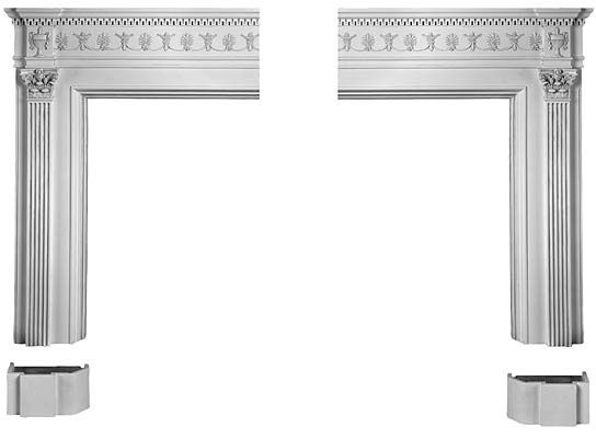 1911 Fireplace Mantel Kit in Gypsum Cement