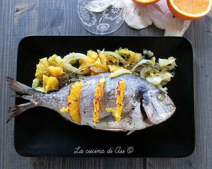 Orata al forno con arancia e finocchio : delicata profumata e gustosa! Ricetta secondo piatto di pesce La cucina di ASI