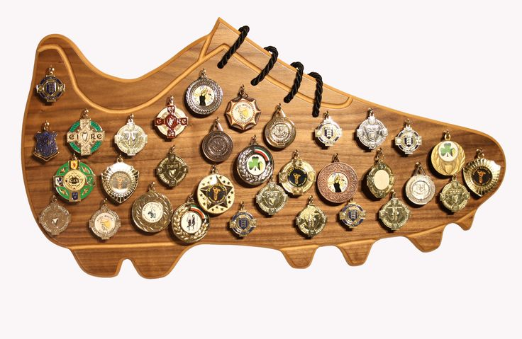 Catch all football boot medal display for the sports mad