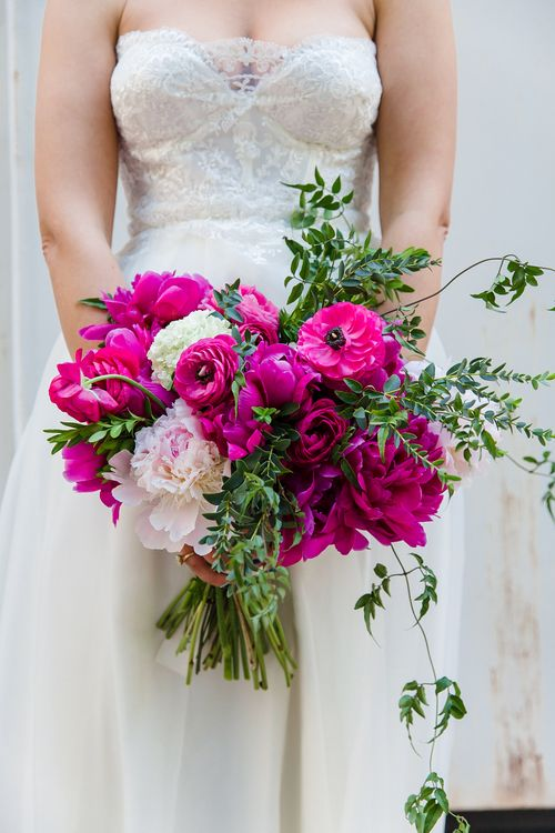B Floral and Event Design | Full Service Floral and Event Design Company Servicing Maryland, Washington DC, Virginia and Beyond. Dark pink tone bouquet