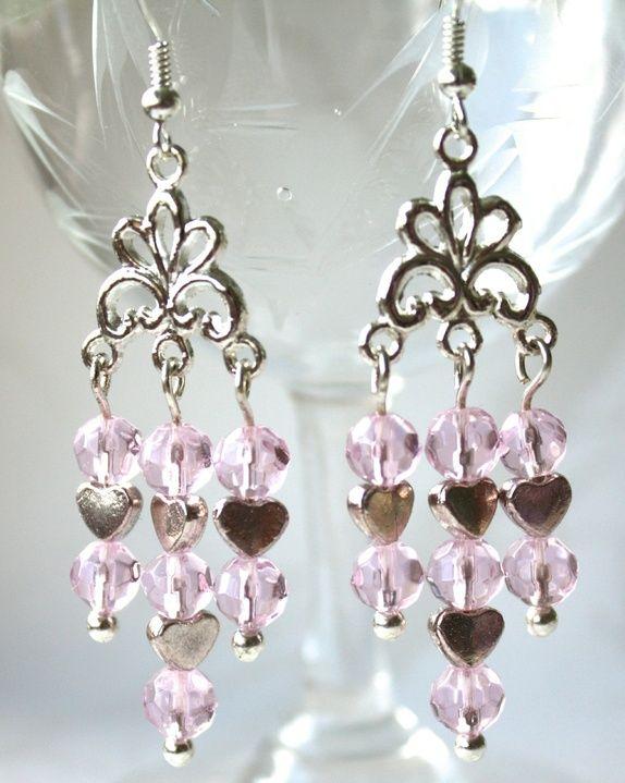 Pink earrings - SOLD