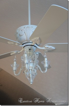 Celing fan with chandelier! I want this! Where can I buy? Would love this in the baby's room!