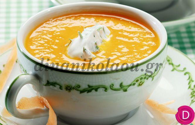 Καροτόσουπα με μπέικον | Dina Nikolaou