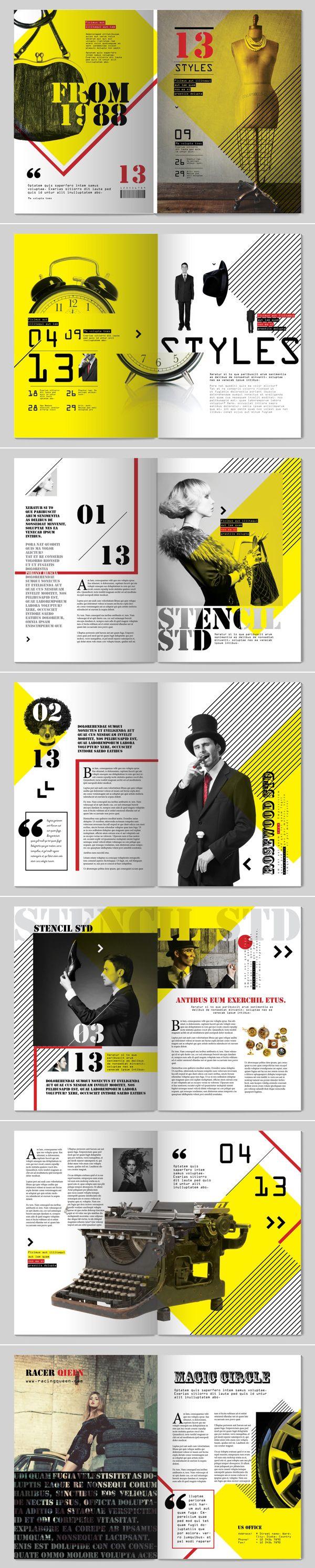 13 Styles Magazine Design // by Tony Huynh via behance