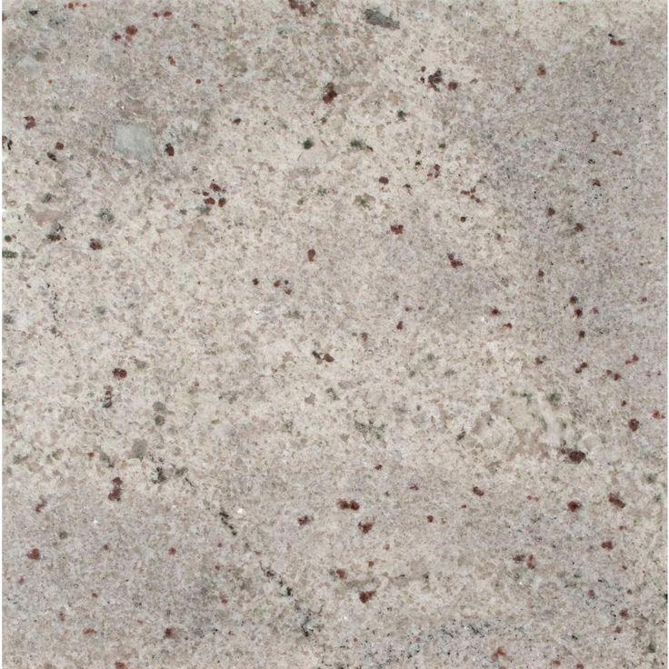 Stonemark Granite 3 in. Granite Countertop Sample in Bianco Romano