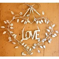 Large Love detailed heart wire metal wall hanging - 57 x 59 cm for R195.00