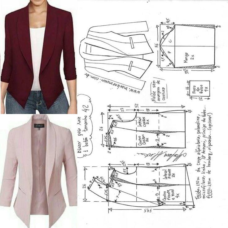 Best 11 La costura ✂ los Patrones. La chaqueta con la manga 3/4.razmery 36-56…