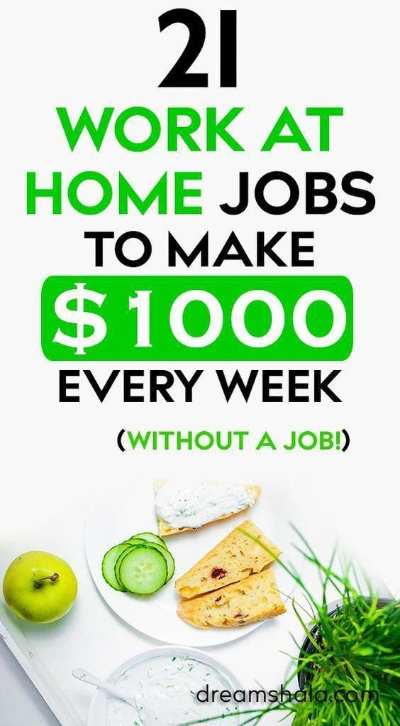21 Genuine Work At Home Jobs That Pay Weekly Work From Home Jobs Home Jobs Work From Home Tips