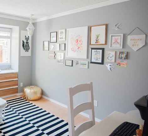 Flannel Grey - the color we just painted our master bedroom