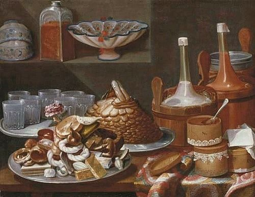 Carlo magini still life with cakes 18th century art for 18th century cuisine