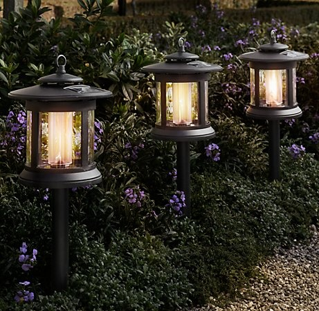 12 best garden lighting images on pinterest restoration hardware solar round path lights restoration hardware aloadofball Images