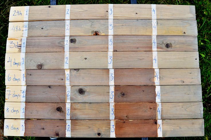 How to use vinegar and steel wool to make different wood stains