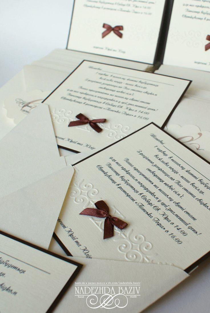 91 best Handmade Wedding Invitations images on Pinterest | Diy ...