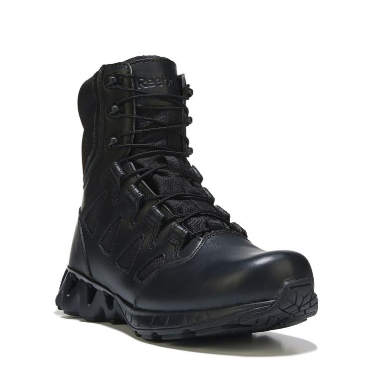 Reebok Duty Men's Zigkick Tactical Medium/Wide Soft Toe Military Boots (Black Leather) - 11.0 M