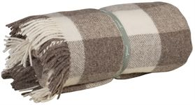 Cotswold Natural Wool Throw - Cocoa