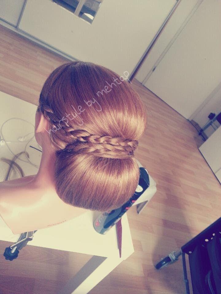 wedding hairstyle tutorial ..wie mache ich hochsteckfrisur ? hairstyle by mehtap, via YouTube.