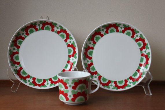 Vintage Arabia Finland Unkari Cup Desert Plate from by foxbride