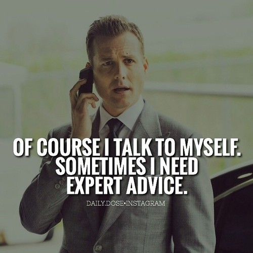 Harvey Spector Advice