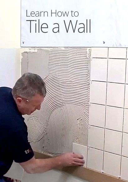 In this lesson, learn how to tile a wall. Tommy shows you how to prep your wall to ensure your tiles are straight, and to cut tiles. Plus, learn a quick fix to prevent tile slippage.