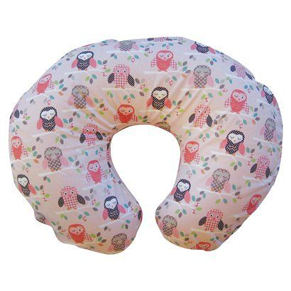 boppy pillow with a cute owl slipcover: Nursing Pillow, Bare Naked, Slipcovers, Boppy Pillow, Baby Girl, Pillows, Pink Owl, Owls, Baby Stuff