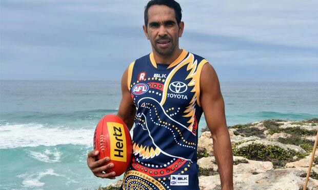 Eddie Betts in the new indigenous guernsey for Adelaide crows for the indigenous round