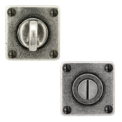 Finesse Design 'Jesmond' pewter privacy turn set. Finesse Design hardware is manufactured and hand-finished in the United Kingdom using lead free pewter. It is hard wearing, easy to clean and will aquire a natural patina over time.