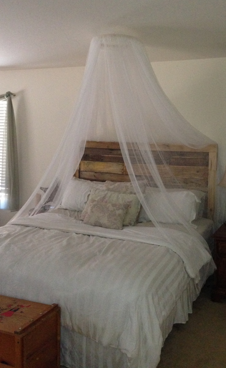 Bedroom diy romantic bed canopy - Diy Mosquito Net Canopy 18 Embroidery Hoop And 4 110 X 98
