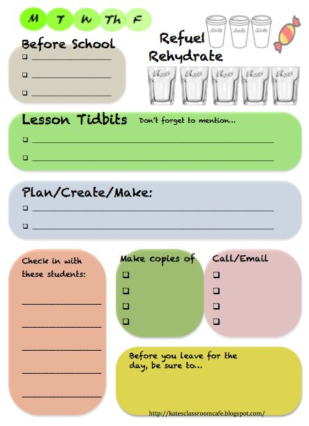 Kate's Classroom Cafe: Getting Organized This Year! Desktop Checklist Freebie