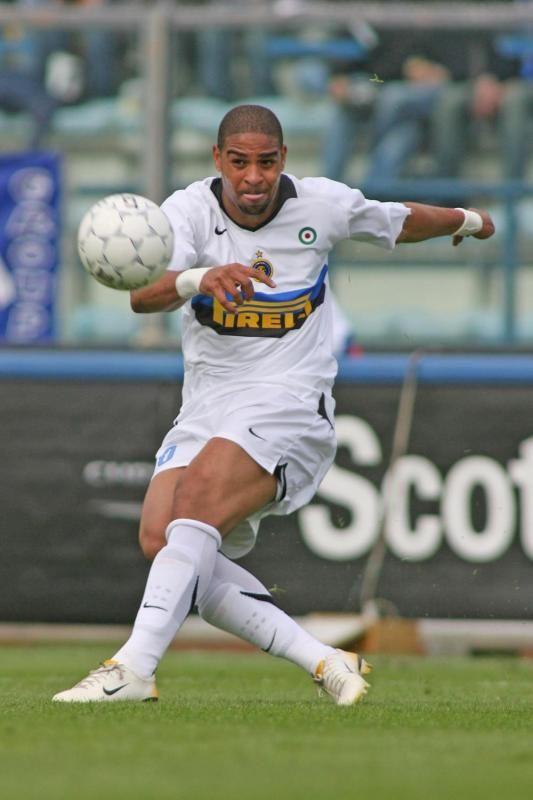 Adriano Leite Ribeiro, Inter Milan, attaccante brasiliano; 30 April 2006 ; 36ma Giornata Serie A, Empoli vs Inter 1-0
