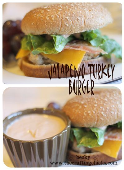 Jalapeno Turkey Burgers from @Becky James of @The Crafting Chicks.  Perfect for grilling.