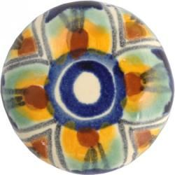 Mexican Tile - Multicolor Peacock Drawer Knob