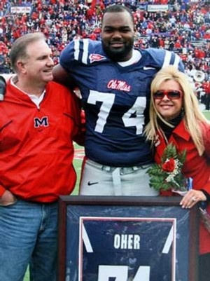Michael Oher of the Baltimore Ravens