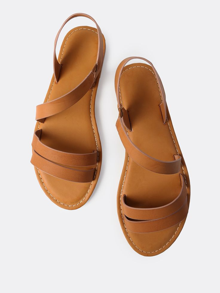 Shop Open Toe Wrap Over Sandals TAN online. SheIn offers Open Toe Wrap Over Sandals TAN & more to fit your fashionable needs.