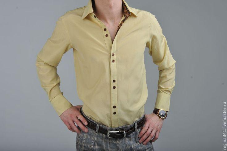 """Купить Мужская шёлковая рубашка """"Giorgio"""" - шёлковая рубашка купить, шёлковые…"""