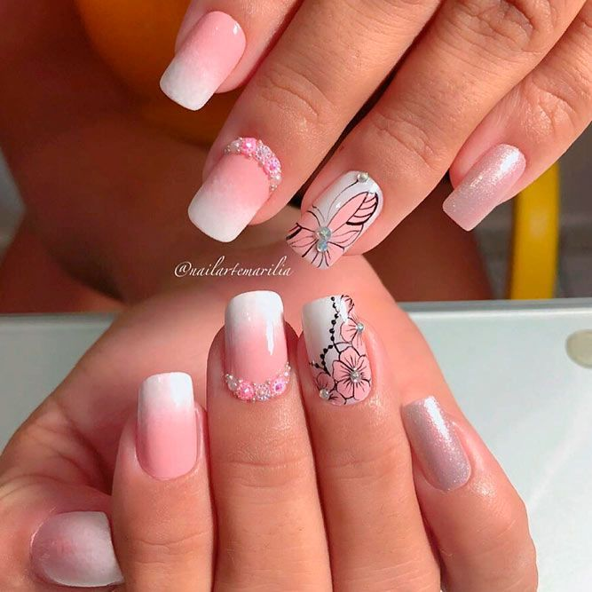 34 Pink And White Nails Trends For Spring And Summer 2020 White