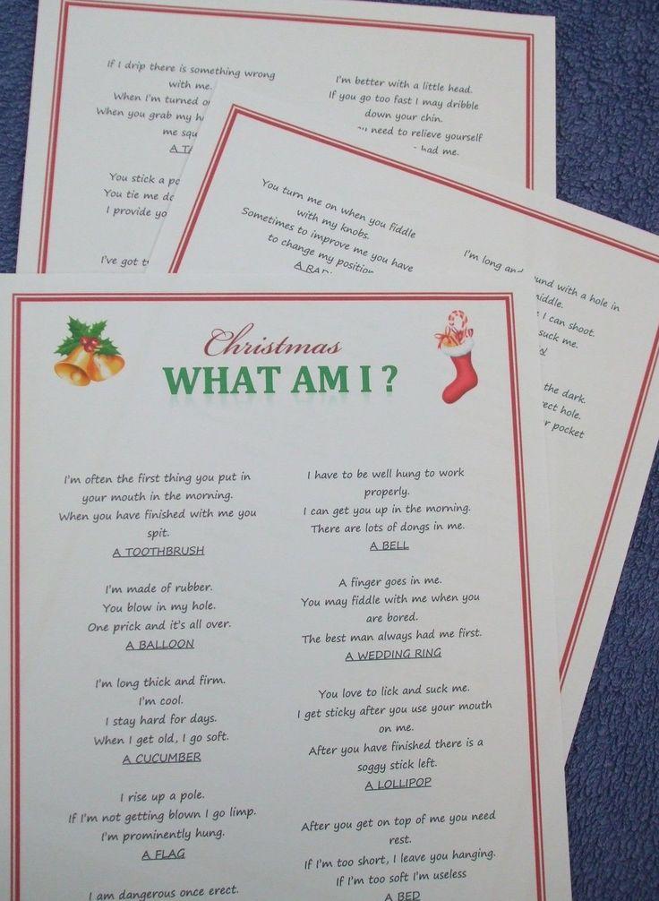 Adult Christmas Party Game,Fun Xmas Entertainment Idea,Quiz Activity Gift.