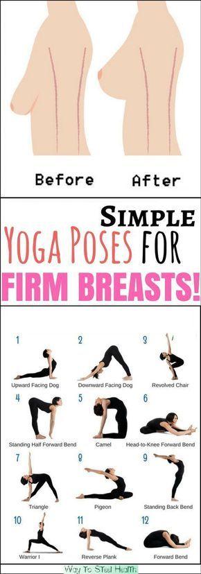 Yoga posen zum Brust trainieren.