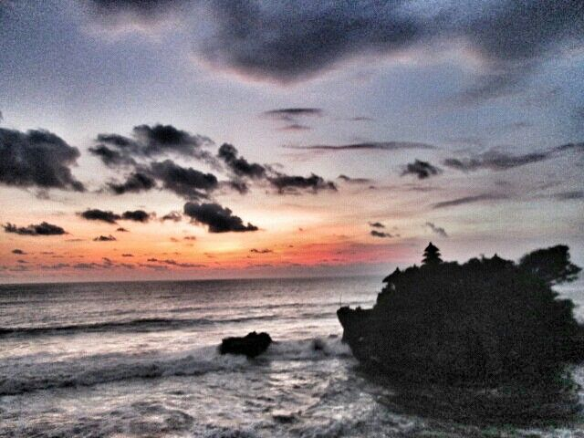 Sunset at Tanah Lot Temple, Bali, Indonesia